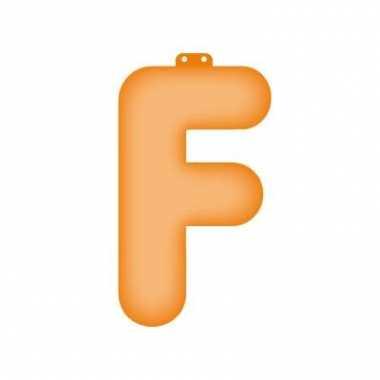 Opblaasbare letter f oranje