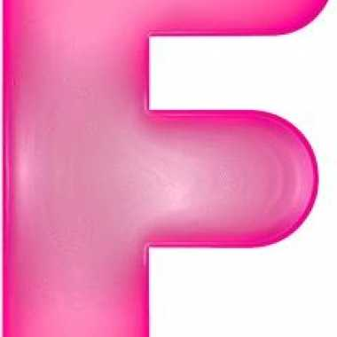 Opblaasbare letter f roze