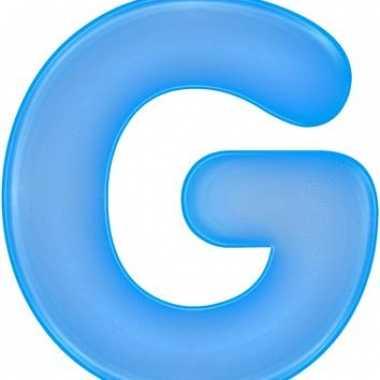Opblaasbare letter g blauw