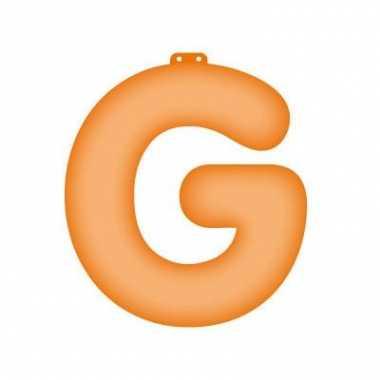 Opblaasbare letter g oranje