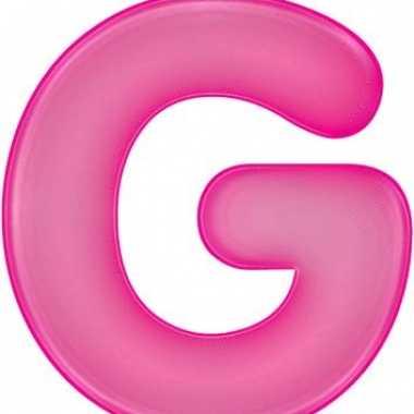 Opblaasbare letter g roze