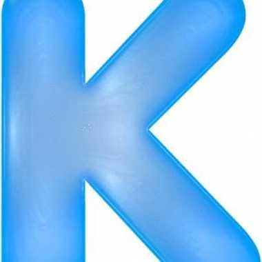 Opblaasbare letter k blauw