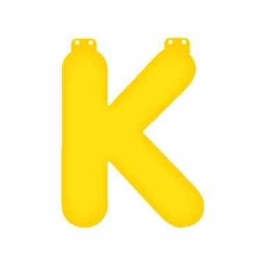 Opblaasbare letter k geel