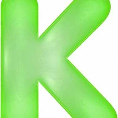 Opblaasbare letter k groen