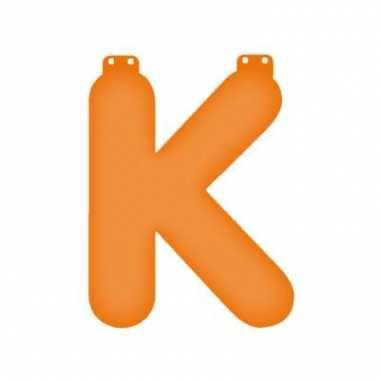 Opblaasbare letter k oranje