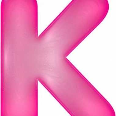 Opblaasbare letter k roze
