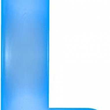 Opblaasbare letter l blauw
