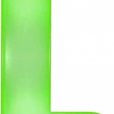 Opblaasbare letter l groen