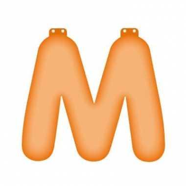 Opblaasbare letter m oranje