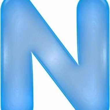 Opblaasbare letter n blauw