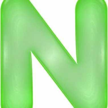 Opblaasbare letter n groen