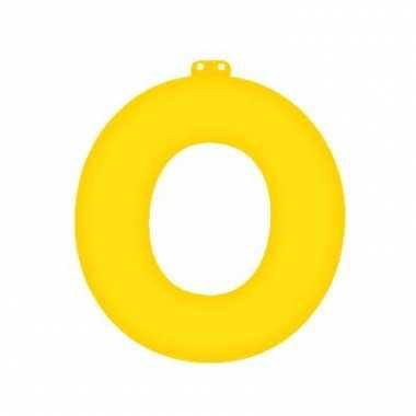 Opblaasbare letter o geel