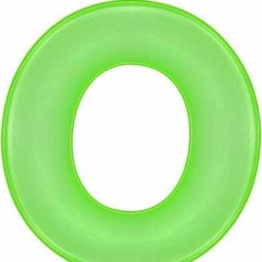 Opblaasbare letter o groen