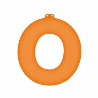 Opblaasbare letter o oranje