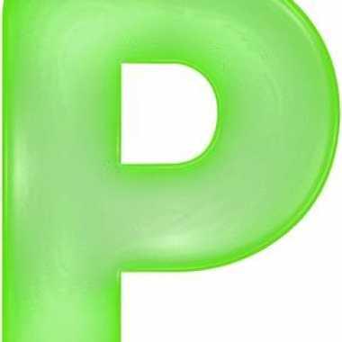 Opblaasbare letter p groen