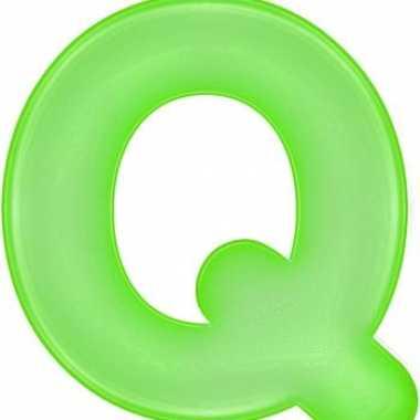 Opblaasbare letter q groen