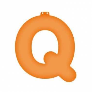 Opblaasbare letter q oranje