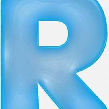 Opblaasbare letter r blauw