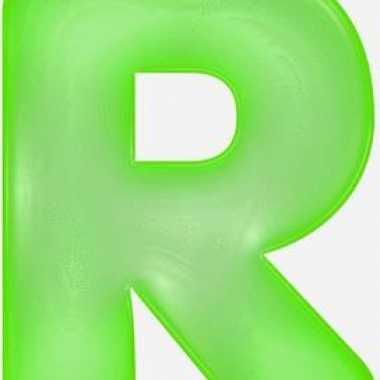 Opblaasbare letter r groen