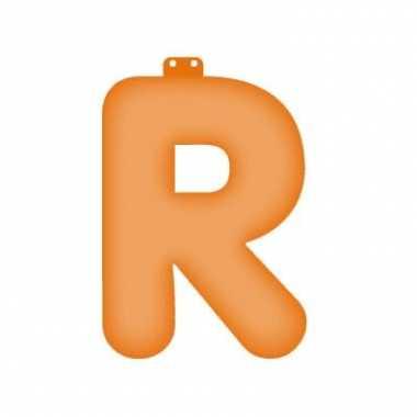 Opblaasbare letter r oranje