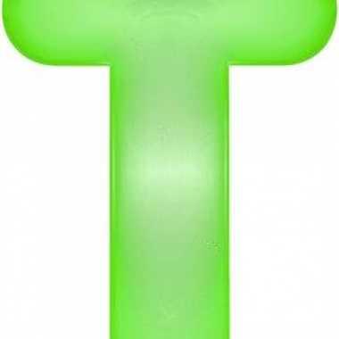 Opblaasbare letter t groen