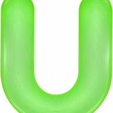 Opblaasbare letter u groen