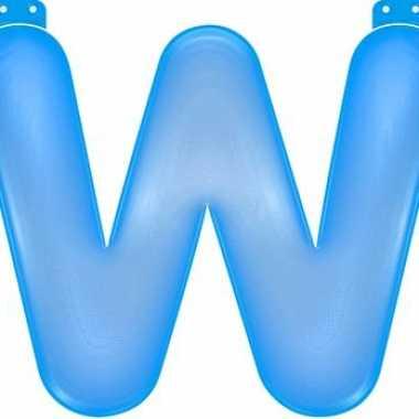 Opblaasbare letter w blauw