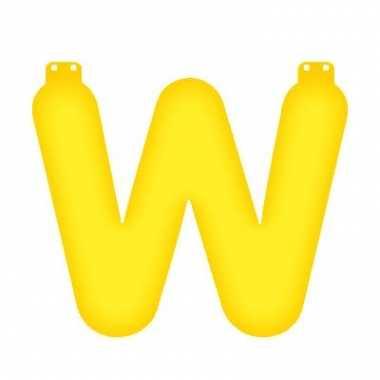 Opblaasbare letter w geel