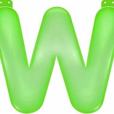 Opblaasbare letter w groen