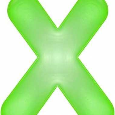 Opblaasbare letter x groen