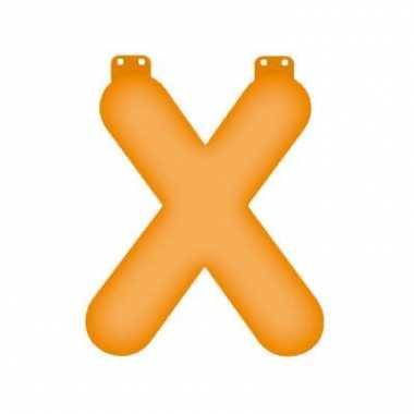 Opblaasbare letter x oranje