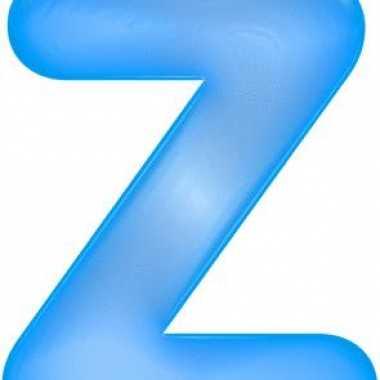 Opblaasbare letter z blauw