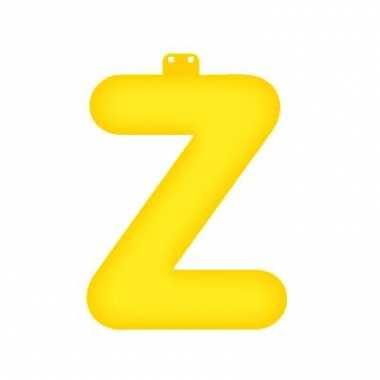 Opblaasbare letter z geel