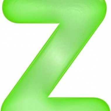 Opblaasbare letter z groen