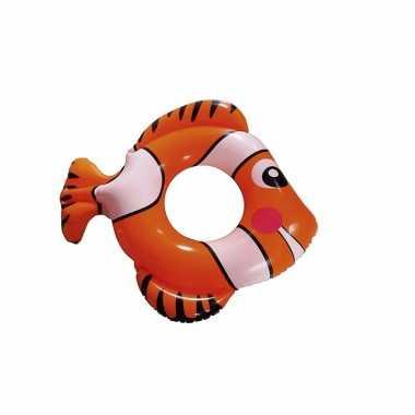 Opblaasbare rode vis zwemband 79 cm