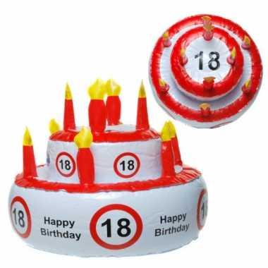 Opblaasbare taart hoed 18 jaar