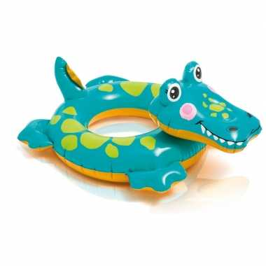 Opblaasbare zwemband krokodil 51 cm
