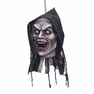 Opgehangen zombie hoofd decoratie