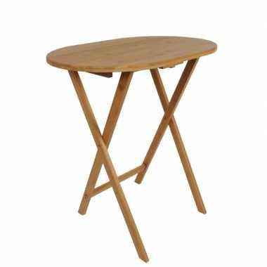 Opklapbare bijzet tafels bamboe