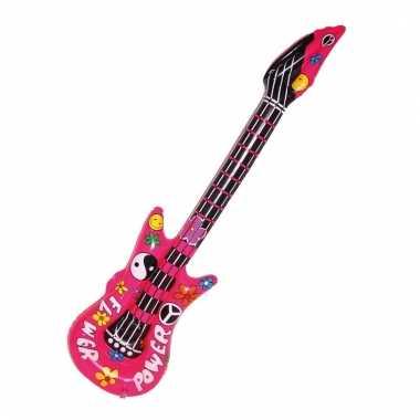 Opvallende flower power gitaar 105 cm