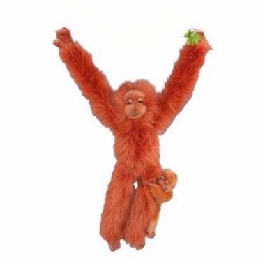 Orang oetan aap met baby knuffel 44 cm