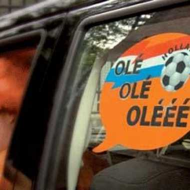 Orange autoraam sticker voetbal