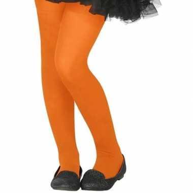 Oranje 40 denier panty voor kinderen