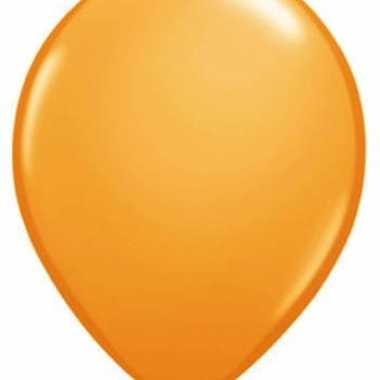 Oranje ballonnen qualatex