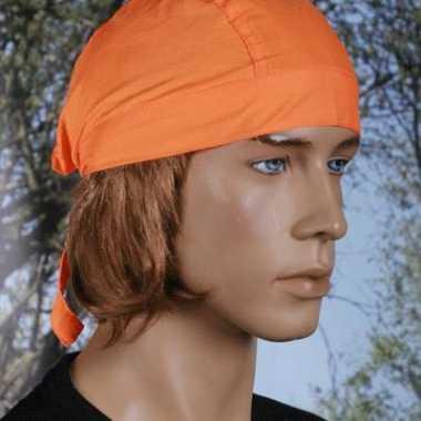 Oranje bandana voor dames en heren uni 1