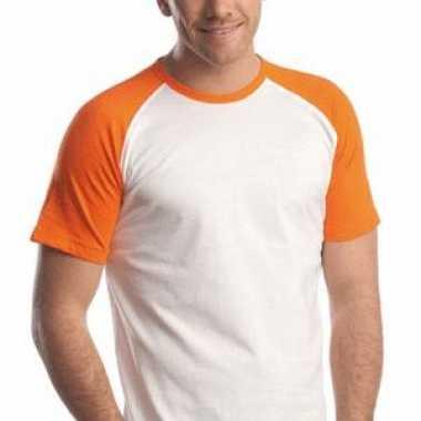 Oranje baseball t-shirts