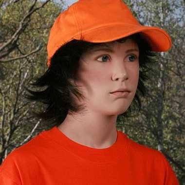 Oranje baseballcap kinderen