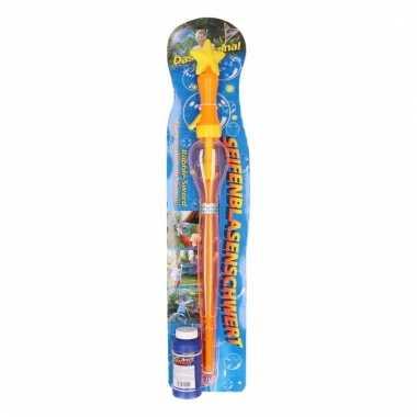 Oranje bellenblaas zwaard 53 cm