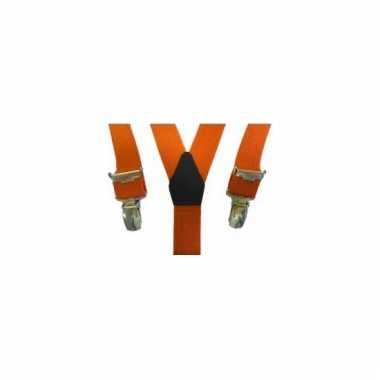 Oranje bretels voor meisjes