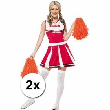 Oranje cheerballs 28 cm set